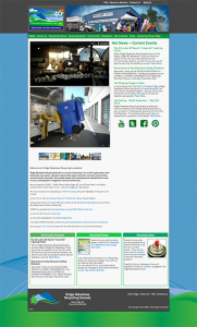 Screen capture of website for Ridge Meadows Recycling Society