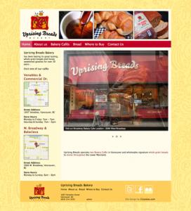 Uprising Breads Bakery Website