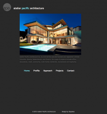 Screenshot Atelier Pacific Architecture Website