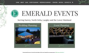 Emerald Events Website